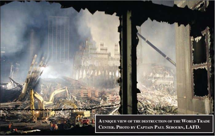 a uNique view of the destruCtioN of the world trade CeNter. photo by CaptaiN paul