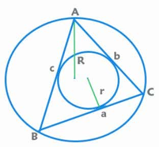 to the smallest angle is the shortest. Area of a triangle: = = ½ x Base