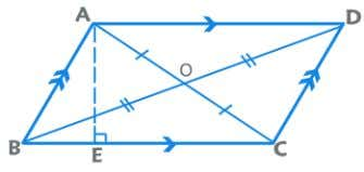 the Area = semi perimeter where s is Parallelogram Opposite sides are parallel and congruent. Opposite