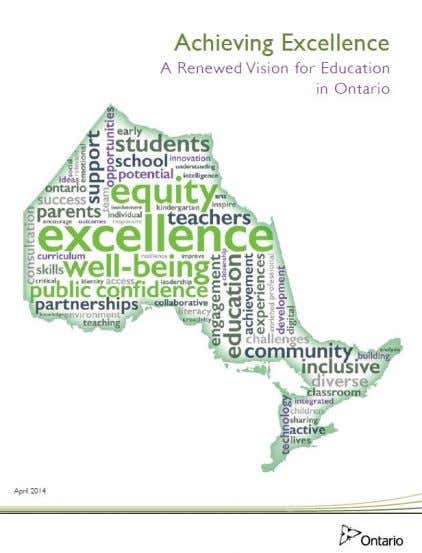 Achieving Excellence 2. Ensuring Equity 3. Promoting Well-Being 4. Enhancing Public Confidence 3