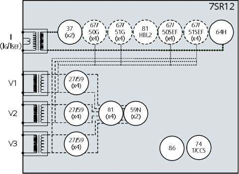 Relay Version C Software 7SR12 Functional Diagrams Fig 4. Single Pole Directional Relay 7SR12 67/ 67/