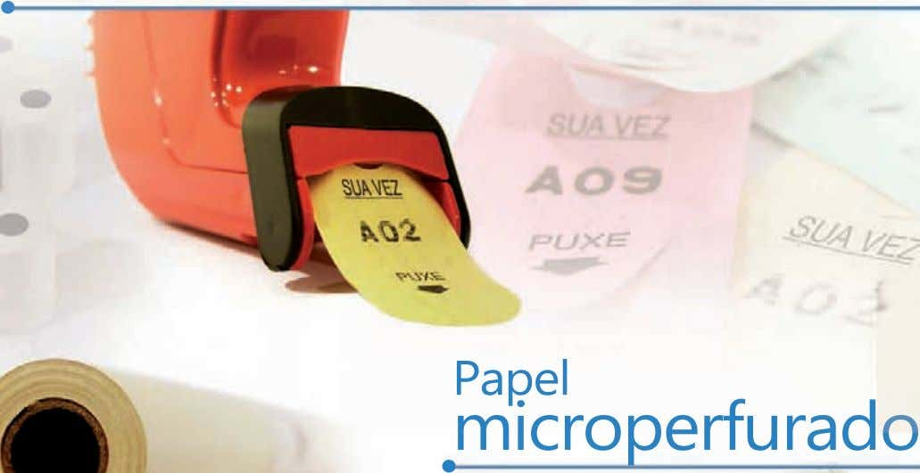. Papel . microperfurado