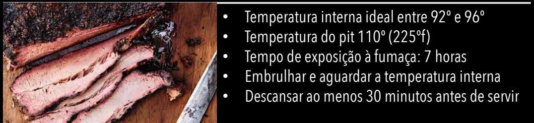 •   •   •   •   •   Temperatura interna ideal entre 92º