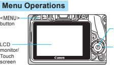 Menu Operations <M> button LCD monitor/ Touch screen