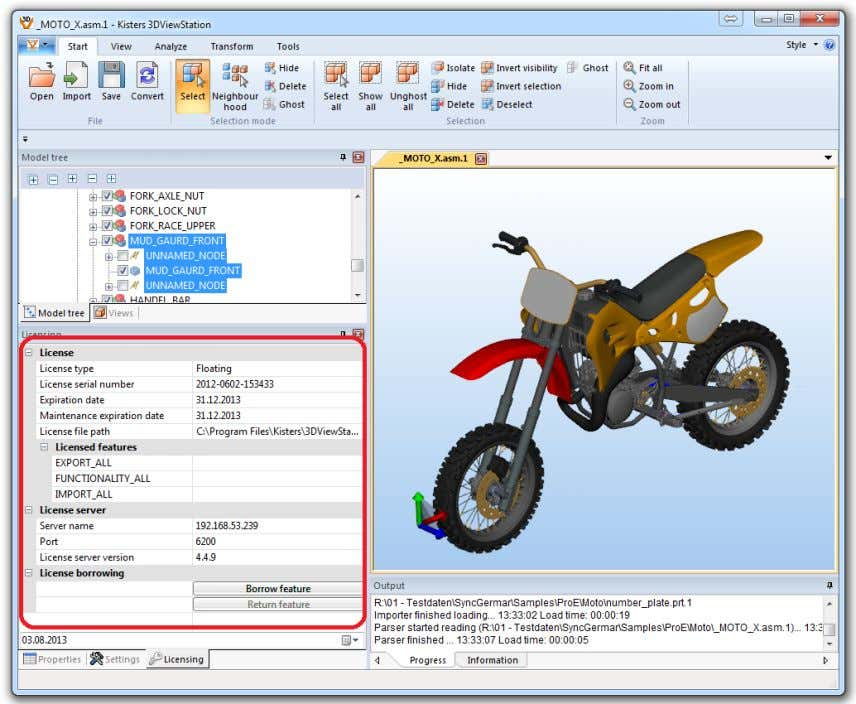 Manager Admin Guide 3. Edition – Version 3.0 02.08.2013 Figure 7: Kisters 3DViewStation floating license ©