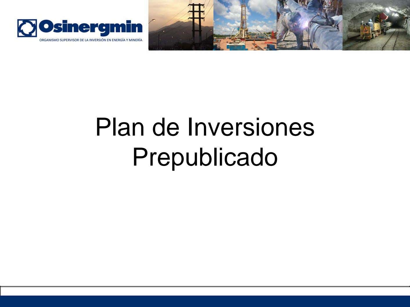 Plan de Inversiones Prepublicado