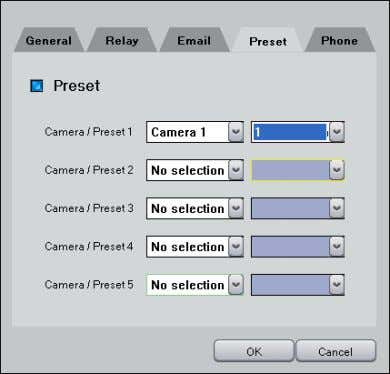 www. DiViS DVR.com • Preset: If selected sensor is tripped, this feature allows the selected camera