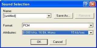 be in form of PCM, 16 Bit, 8 KHz, Mono. * Making Wav File - Execute