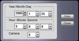 "time and date to search directly and click ""GOTO"". : The calendar allows the user to"