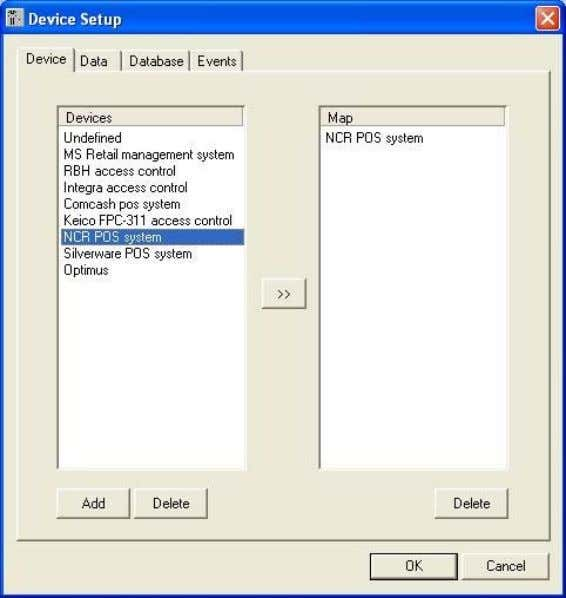 ExDevice Setup. 9-1. Device Setup 9-1-1. Device Selection Register POS or Access control devices to the