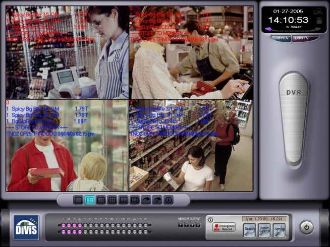 www. DiViS DVR.com 10. POS, Access Control Data search Once External device setup is finished the