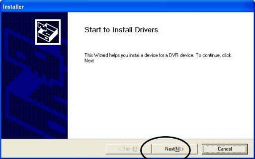 "click ""Cancel"" to close. Open Driver folder in CD-Rom and run ""Installer"". Click ""Next"" . 6"