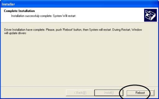 "different device(s) will be displayed) Click ""Install"". The above picture shows up when installation is completed."