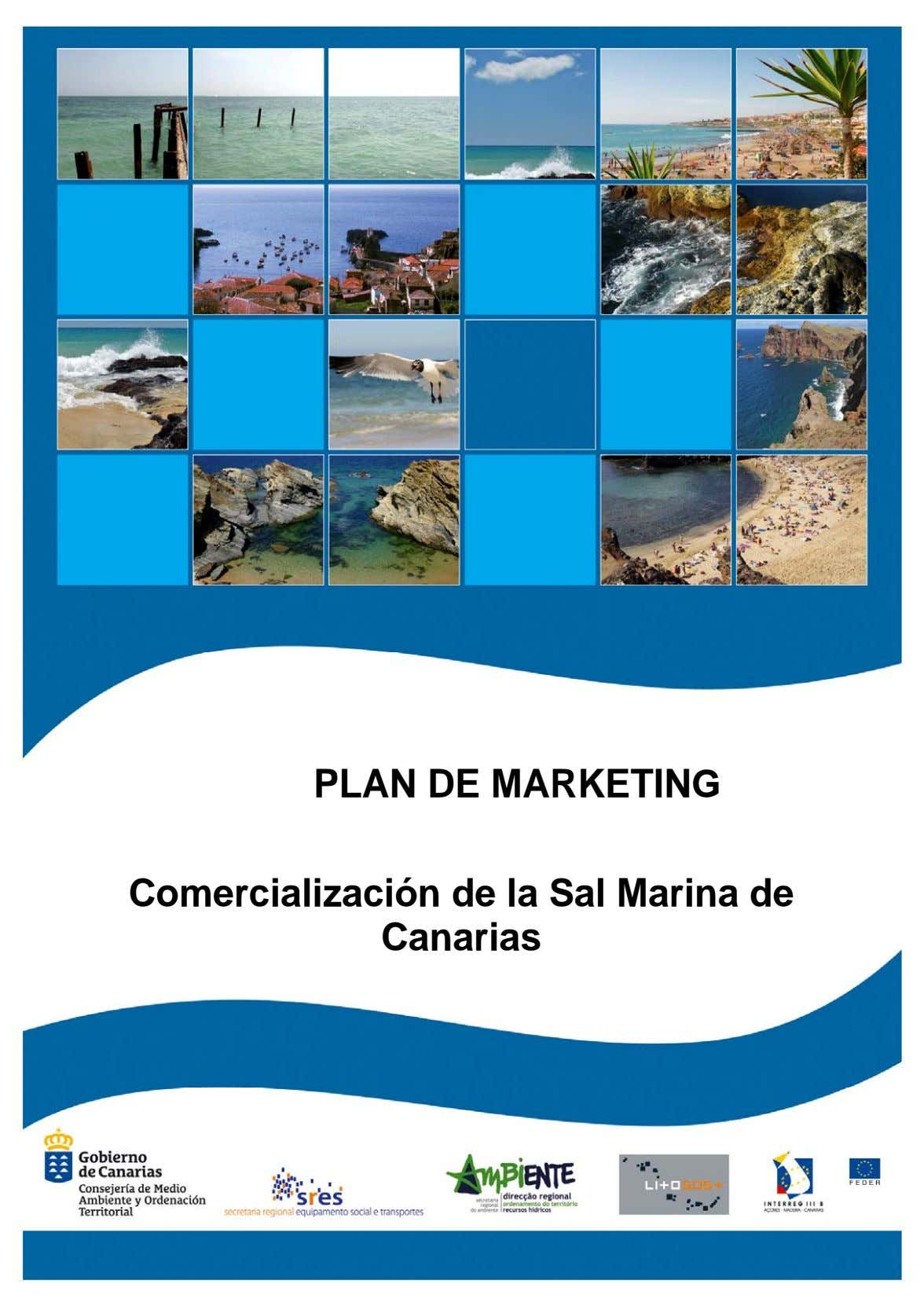 PLAN DE MARKETING Comercialización de la Sal Marina de Canarias