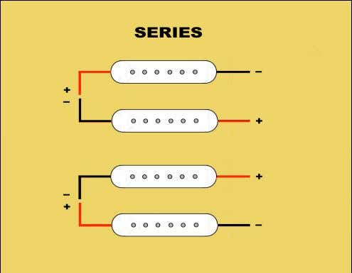 goes into the input of another pickup. In parallel wiring, each pickup takes its own path