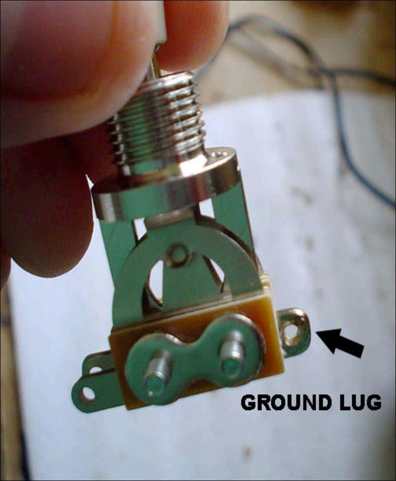 The ground lug is often on the backside of the toggle switch. It is thicker than