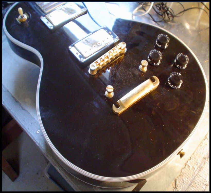 on this guitar. 1. The first step involves removing the strings. Also remove the tailpiece from