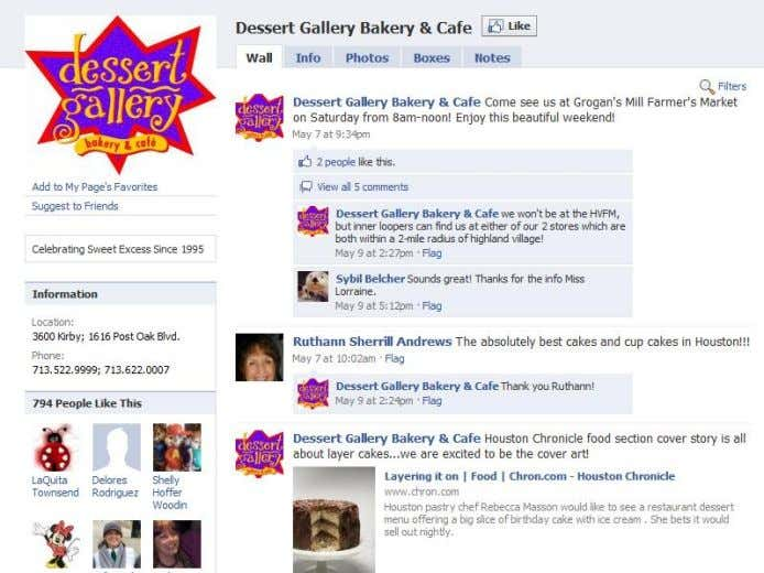 THE ROI OF FACEBOOK Dholakia and Durham surveyed customers of Dessert Gallery (DG) , a