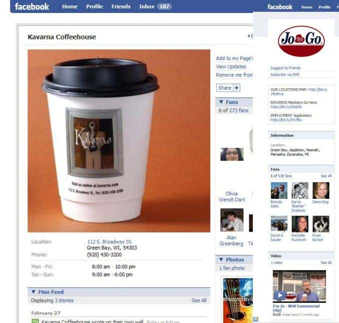 Local Coffee Shops Run on Facebook Group The MarketingSavant Group The MarketingSavant www.marketingsavant.com