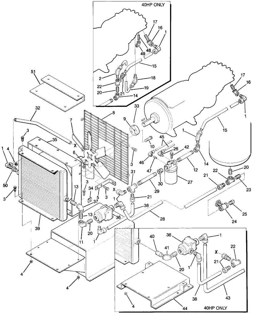 Section 1 ILLUSTRATIONS AND PARTS LIST 1.5 COMPRESSOR COOLING AND LUBRICATION SYSTEM -- AIR --COOLED (25