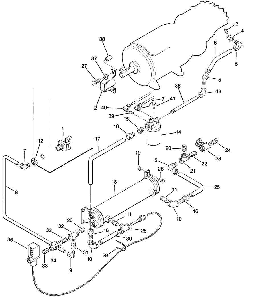 Section 1 ILLUSTRATIONS AND PARTS LIST 1.6 COMPRESSOR COOLING AND LUBRICATION SYSTEM -- WATER --COOLED (25