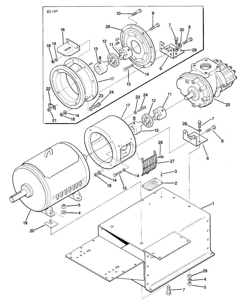 Section 1 ILLUSTRATIONS AND PARTS LIST 1.3 MOTOR, COMPRESSOR, FRAME AND PARTS 4