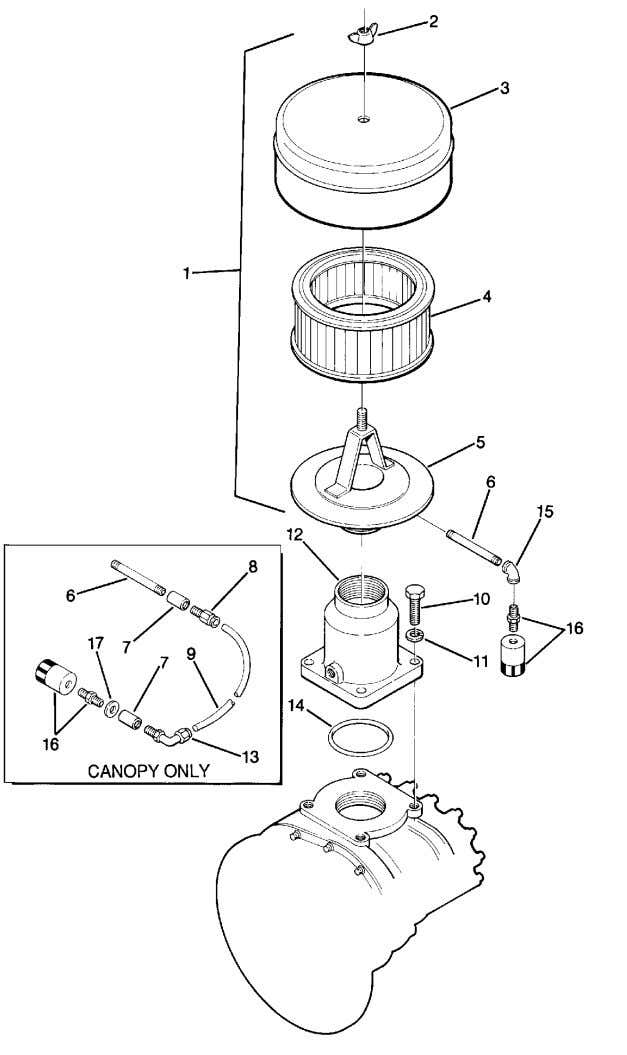 Section 1 ILLUSTRATIONS AND PARTS LIST 1.4 AIR INLET SYSTEM 6