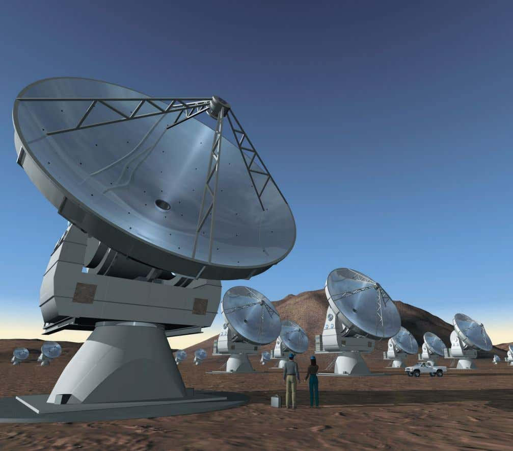 No. 112 – June 2003 Computer simulation of the Atacama Large Millimeter Array (ALMA). Image created
