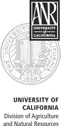 UnIVERsItY oF CalIFoRnIa Division of Agriculture and Natural Resources