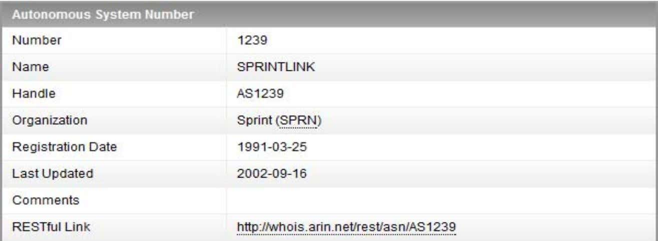 a specific AS – http://whois.arin.net/rest/asn/AS1239/pft BRKRST-3320 © 2013 Cisco and/or its affiliates. All rights
