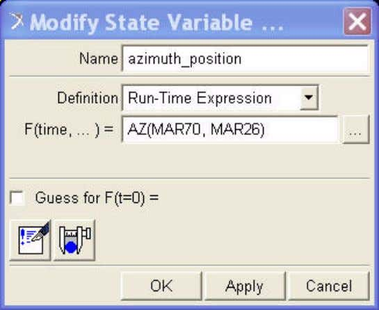 OK . The Create/Modify State Variable dialog box appears. Figure 6 Modify State Variable Dialog Box