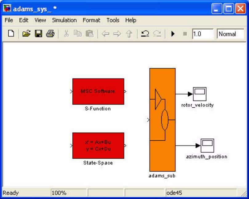 Step Three - Adding Controls to the Adams Block Diagram Figure 8 Simulink Selection Window 2.