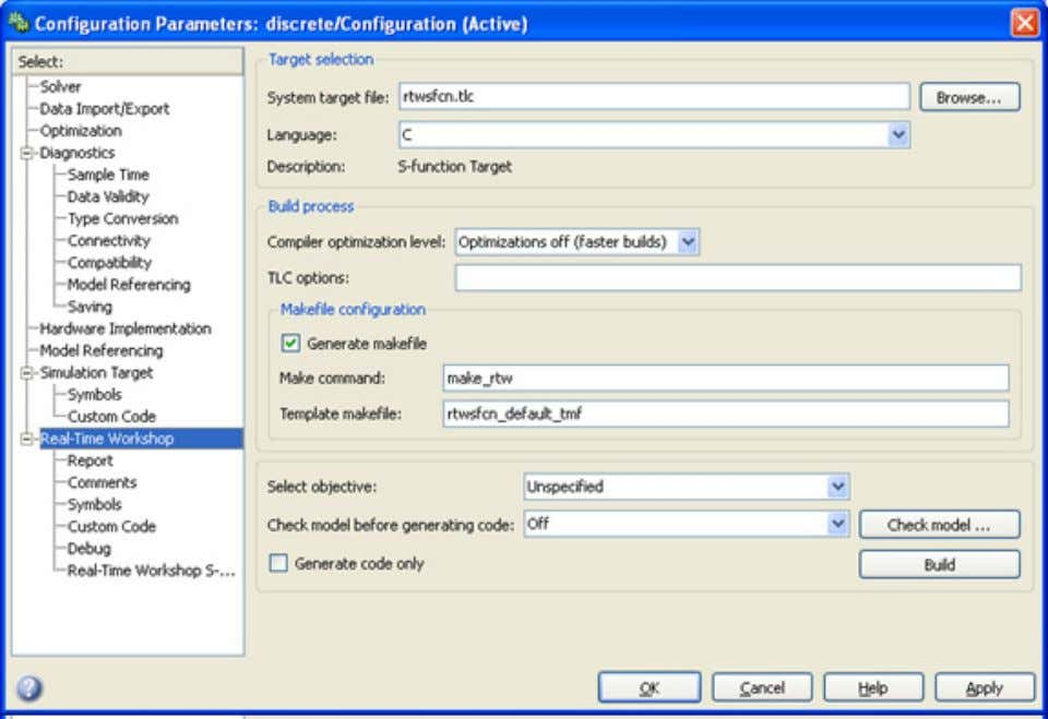 Step Six - Expose S-Functi on Parameters to Adams 81 5. Under Configuration Parameters, select th