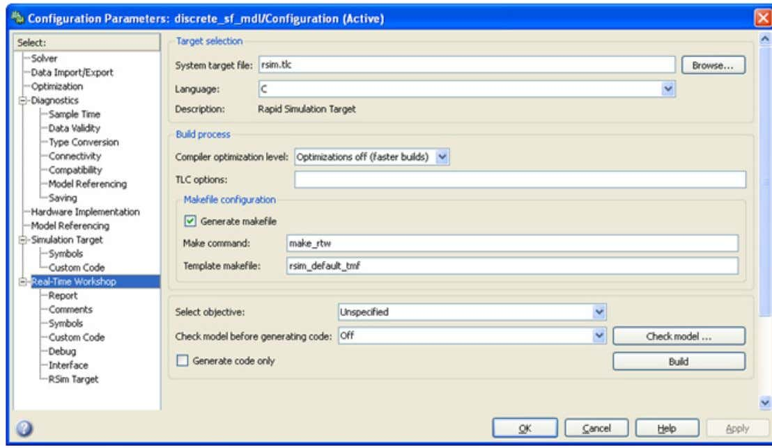 Step Six - Expose S-Functi on Parameters to Adams 83 10. Select Apply and then Build