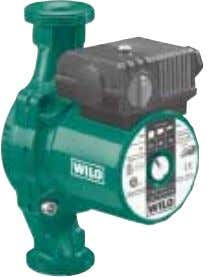 Glandless Pumps Standard 3-Speed Pumps (max. 2800 r.p.m.) Wilo-ClassicStar Wilo-Star RS Single head pumps Screwed-end pump