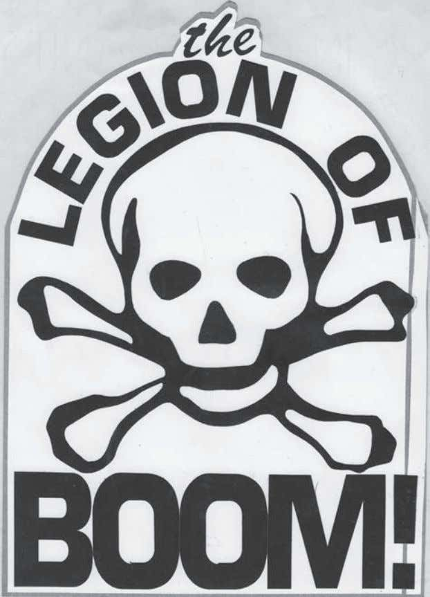 I.4 / Vinyl sticker for the Legion of Boom, designed by Francisco Pardorla. Courtesy of