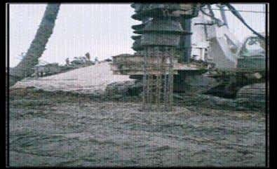 at site. Figure 7. Drilling and concreting of pile by (CFA). Figure 8. Reinforced steel cage