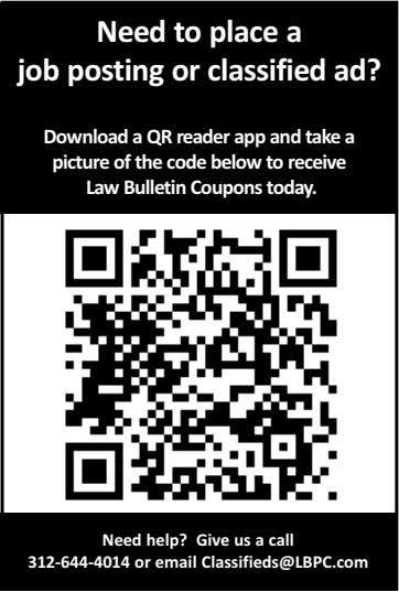 Need to place a job posting or classified ad? Download a QR reader app and