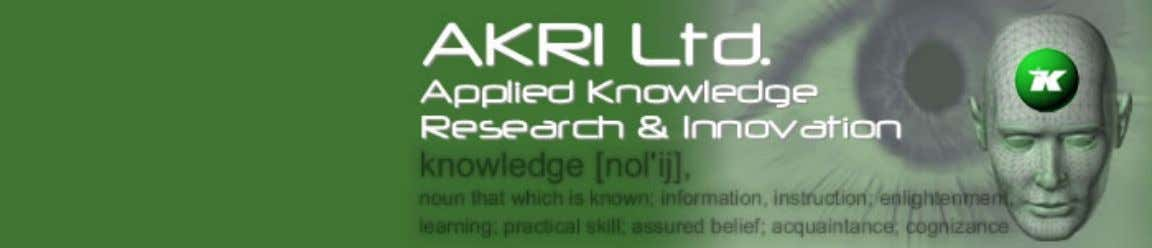 AKRI : Research : Knowledge Management Guidelines Skip Navigation Home | Search | Site Index |