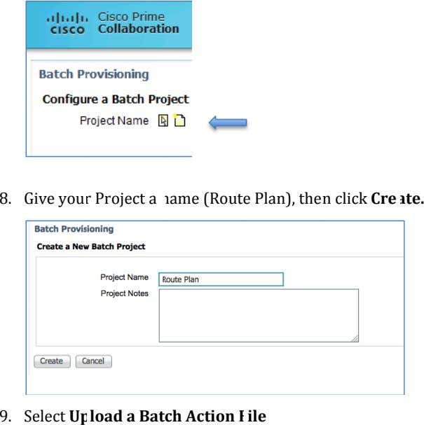 8 . Give you r Project a name (Rout e Plan), the n click Cre ate.
