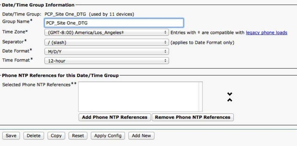 System > Date/T ime Group • Default: GMT-8, Los Angeles © 2013-2014 Cisco and /or its