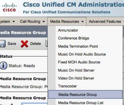 Media Resources > Media Resource Group List © 2013-2014 Cisco and /or its affiliates. All rights