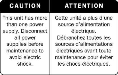 Figure 1: Electrical Shock Hazard Label DUAL-POWER-SUPPLY-SYSTEM SAFETY WARNING IN CHINESE The following figure is the