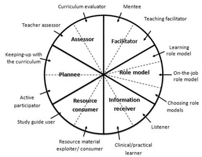double helix of both teacher's & student's roles. Figure 3. The 12 þ 1 roles of