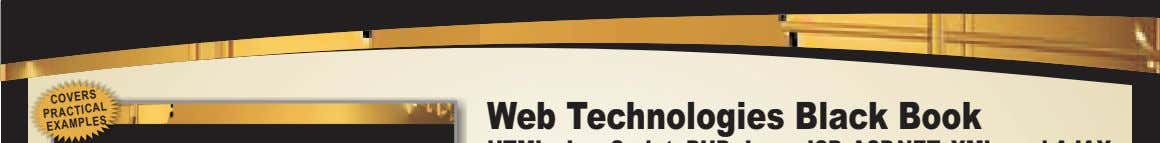COVERS Web Technologies Black Book PRACTICAL EXAMPLES