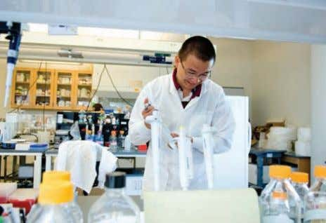 Graduate student Zhuo Liu, a member of Professor Ruben Carbonell's research group, is working in