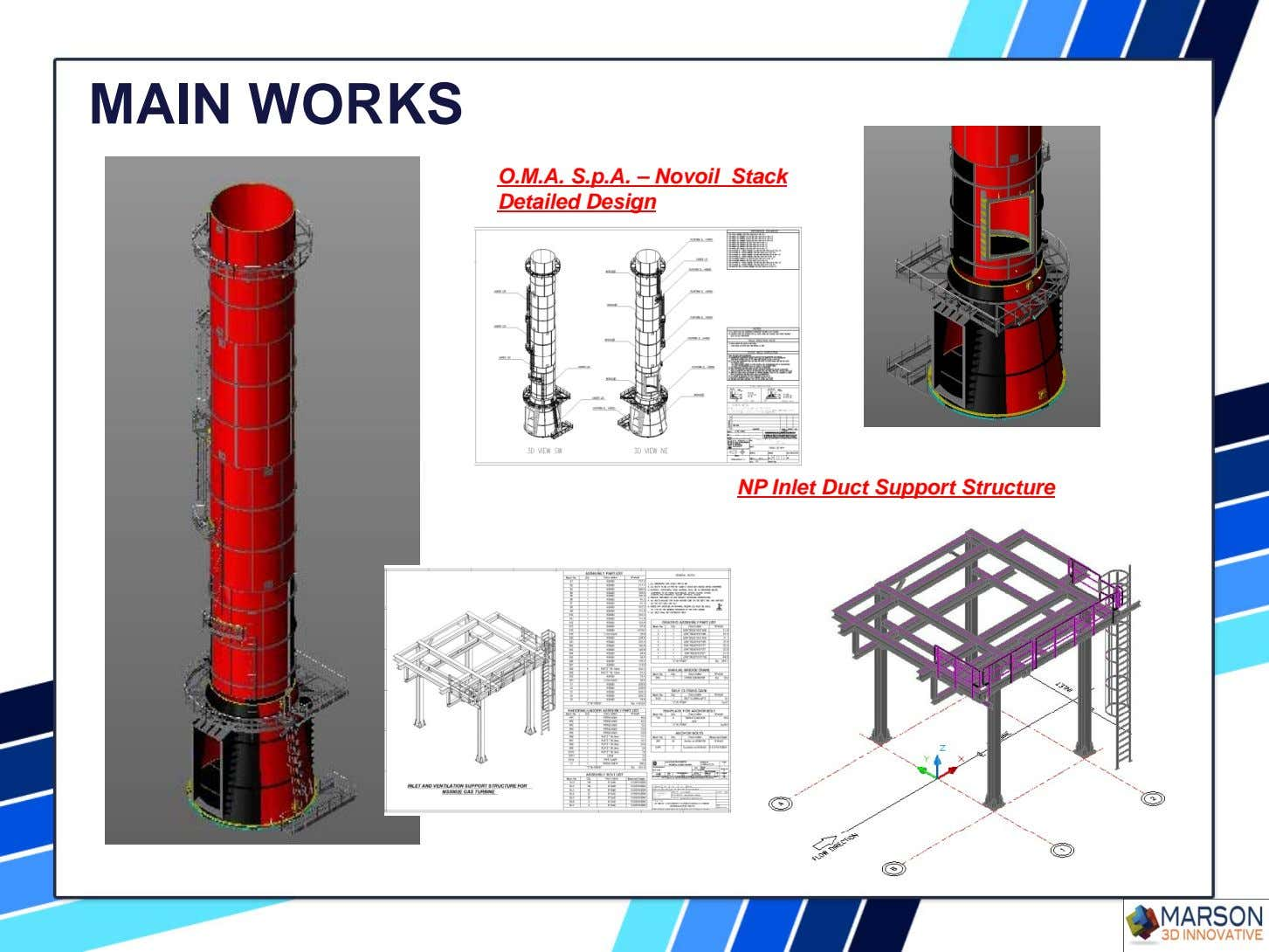 MAIN WORKS O.M.A. S.p.A. – Novoil Stack Detailed Design NP Inlet Duct Support Structure