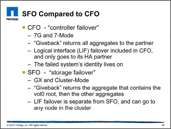 "CFO used to stand for ""cluster failover,"" but the term ""cluster"" is no longer being used"