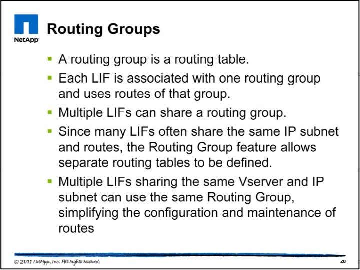 A routing group is automatically created when the first inte rface on a unique subnet is