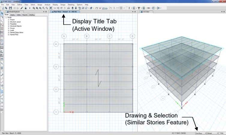 Display Title Tab (Active Window) Drawing & Selection (Similar Stories Feature)